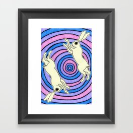 Double Hare Framed Art Print
