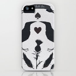 Dark creatures also want love. Black and white. iPhone Case