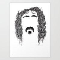zappa Art Prints featuring Frank Zappa by Sára Szabó