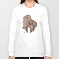 bison Long Sleeve T-shirts featuring Bison by Ursula Rodgers