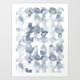 Dye Ovals Blue Fog Art Print