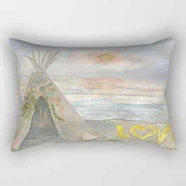 Love//Sunsets + Teepees Rectangular Pillow