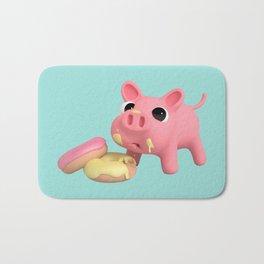 Rosa the Pig eating Donuts Bath Mat