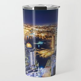 Voyeuristic 1719 Vancouver Cityscape Space Craft - Waterfront Convention Center Gastown BC Canada Travel Mug