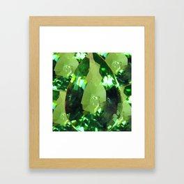 LIME GREEN PERIDOT GEMS AUGUST BIRTHSTONES Framed Art Print
