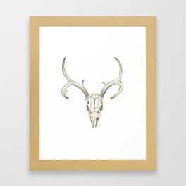Like a Mirror, Reflecting Bones Framed Art Print