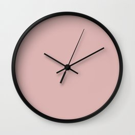 Silver Pink // Pantone 14-1508 TPX Wall Clock