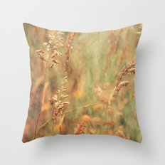 Meadow Grasses Throw Pillow