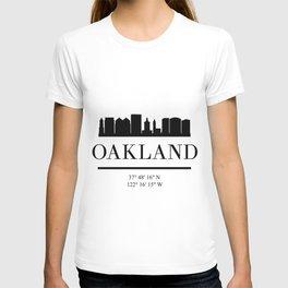 OAKLAND CALIFORNIA BLACK SILHOUETTE SKYLINE ART T-shirt