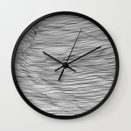 Black lines on white background 2 Wall Clock