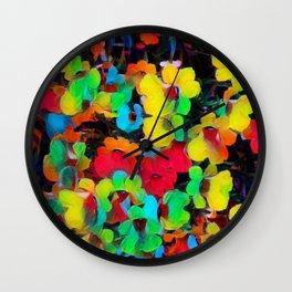 Painted Nemesia Wall Clock