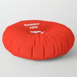 Summer 1969 - red Floor Pillow
