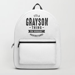 It's a Grayson Backpack