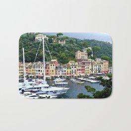Portofino Harbour Italy Bath Mat