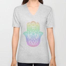 Rainbow Hamsa Unisex V-Neck