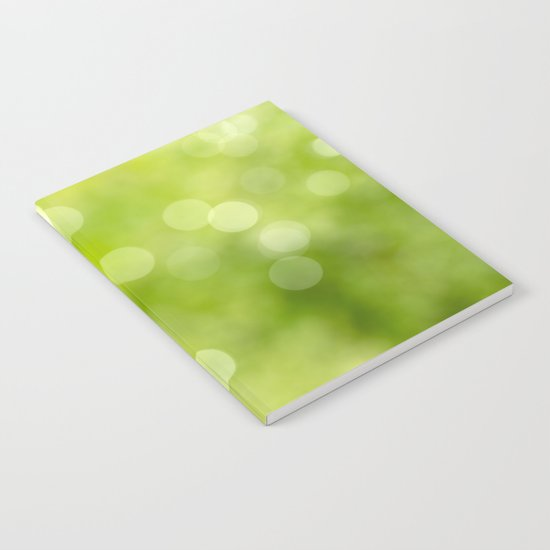 green bokeh Notebook