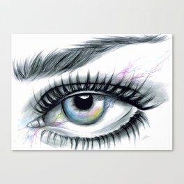 Realistic Eye Drawing Canvas Print