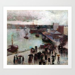 Charles Conder Departure of the Orient Circular Quay Art Print