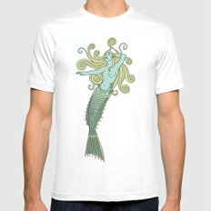 Under the Sea MEDIUM Mens Fitted Tee White