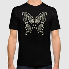 Henna Butterfly No. 1 Black 2X-LARGE Mens Fitted Tee