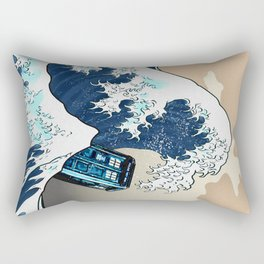 Blue phone Box Vs The great Big Wave iPhone 4 4s 5 5c 6, pillow case, mugs and tshirt Rectangular Pillow