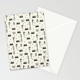 White Climbers Stationery Cards