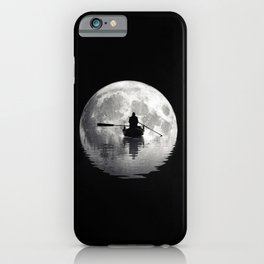 Boat ride under the moonlight  iPhone Case
