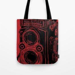 Vintage Rolleiflex (Red/ Black) Tote Bag