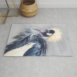 Grey Crowned Crane Rug