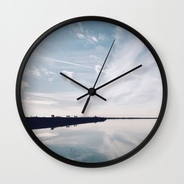 BLUE MOON VIII / Alviso, California Wall Clock