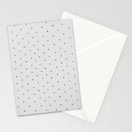 Gray Polka Dot Stationery Cards