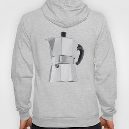 Coffee Moka Pot polygon art Hoody