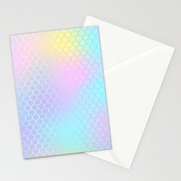 Rainbow Mermaid Abstraction Stationery Cards
