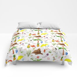 Summer on the Beach Comforters