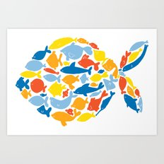 fish of fishes Art Print