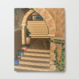 Old Town Stairs and Arches Metal Print