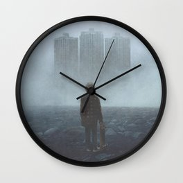Boy and the Giants Wall Clock