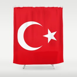 National flag of Turkey, Authentic color & scale Shower Curtain
