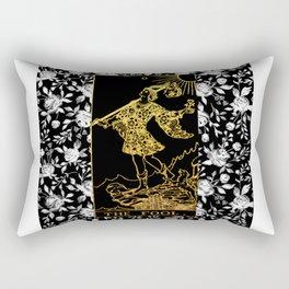The Fool - A Floral Tarot Print Rectangular Pillow