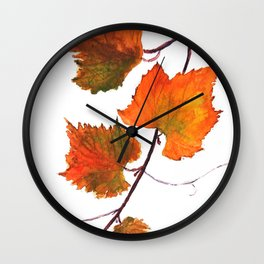 grapevine in autumn Wall Clock