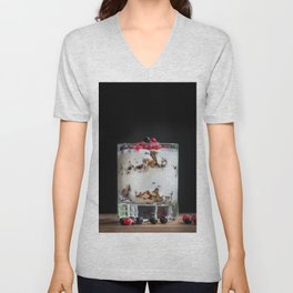 Breakfast - granola with yogurt and berries Unisex V-Neck
