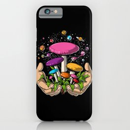 Magic Mushrooms Space Psychedelic Trip iPhone Case