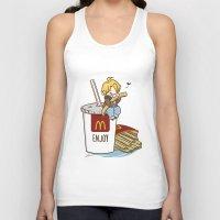 hetalia Tank Tops featuring Hetalia - America Loves McDonalds  by BlacksSideshow