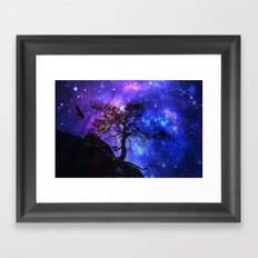 Into  the space Framed Art Print