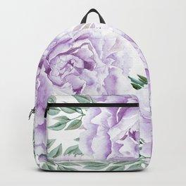 Pretty Purple Flower Garden Backpack