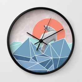 Polar Bear live in North Pole Wall Clock