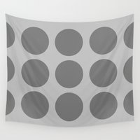 polka dots Wall Tapestries featuring Polka Dots by The Wellington Boot