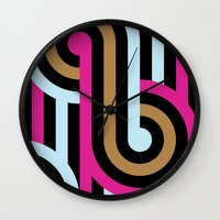 infinity Wall Clocks featuring Infinity by Michelle Nilson