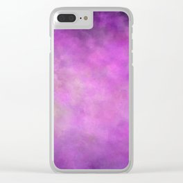 Abstract Soft Watercolor Gradient Ombre Blend 5 Light and Dark Purple Clear iPhone Case