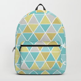 Triangulation (blue and green) Backpack